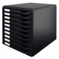 Ladenblok leitz 10 laden zwart zwart 294009 kantoor for Ladenblok facility