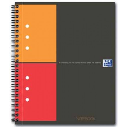 Spiraalboek Oxford International Notebook hardcover A5+ geruit 160blz