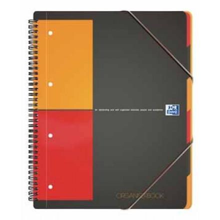 Spiraalboek Oxford International Organiserbook PP A4+ geruit 160blz