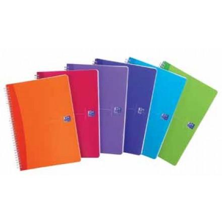Spiraalschrift Oxford Office My Colours PP A5 geruit 180blz assorti
