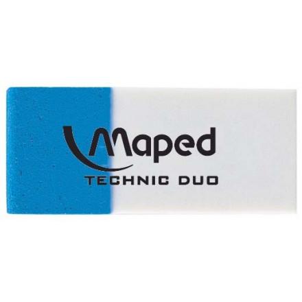 Gum Maped Technic Duo wit/blauw (2)