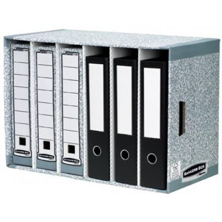 Opslagmodule Fellowes Bankers Box met 6 vakken blauw/wit