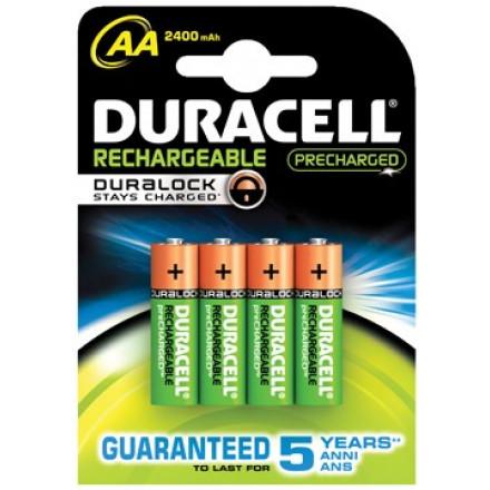 Batterij Duracell  Precharged oplaadbaar AA (4)