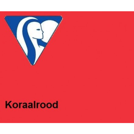 Clairefontaine DIN A4 160gr koraalrood (250) - FSC Mix credit