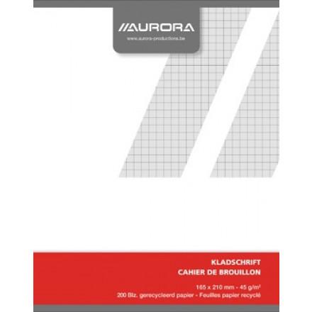 Kladschrift Aurora A5 geruit 200blz
