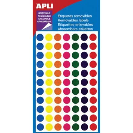 Etiketten apli 8mm non permanent assorti 308 kantoor for Apli etiketten