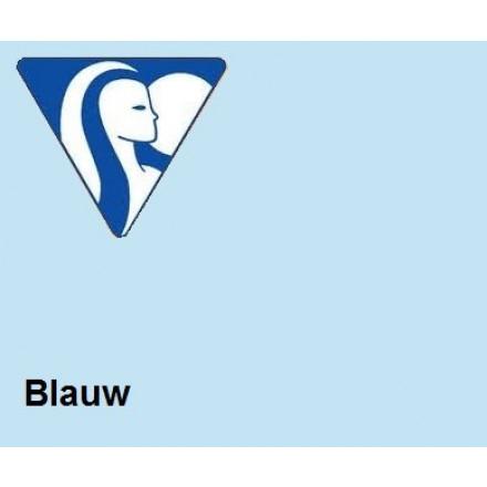 Clairefontaine DIN A4 160gr blauw (250) - FSC Mix credit