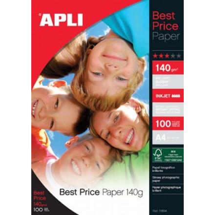 Fotopapier Apli best price glossy A4 140gr inkjet (100)