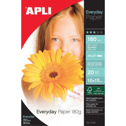 Fotopapier Apli everyday A4 180gr inkjet (20)