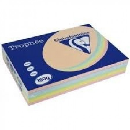 Clairefontaine DIN A4 160gr assorti pastel (250) - FSC Mix credit