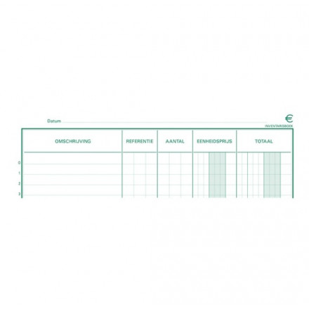 Inventaris Exacompta karton 32x19,5cm 80blad ingebonden nederlands