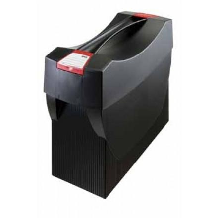 Hangmappenkoffer Han swing ophangmaat 330mm zwart/rood