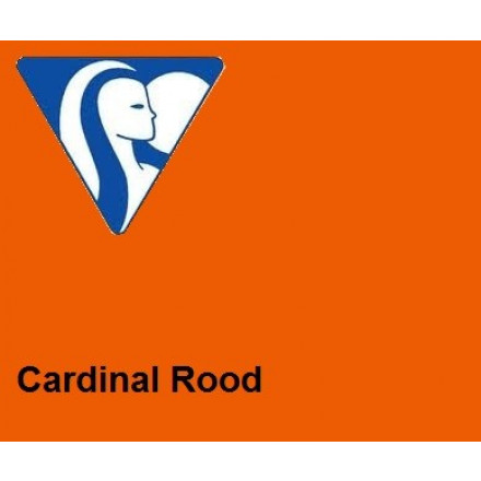 Clairefontaine DIN A4 210gr cardinalrood (250) - FSC Mix credit