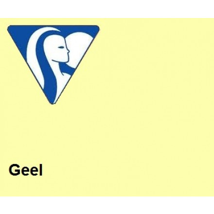 Clairefontaine DIN A4 210gr geel (250) - FSC Mix credit