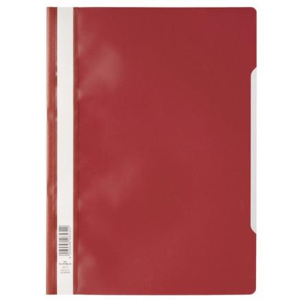 Snelhechtmap Durable PP A4 rood (50) (D257303)