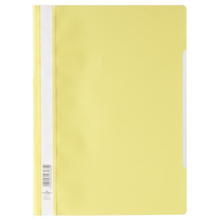 Snelhechtmap Durable PP A4 geel (50) (D257304)