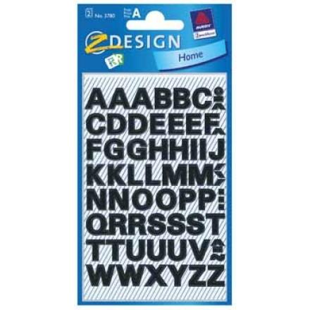 Etiketvel Avery Z-design Home letters 9,5mm weer- en waterbestendig zwart (2)