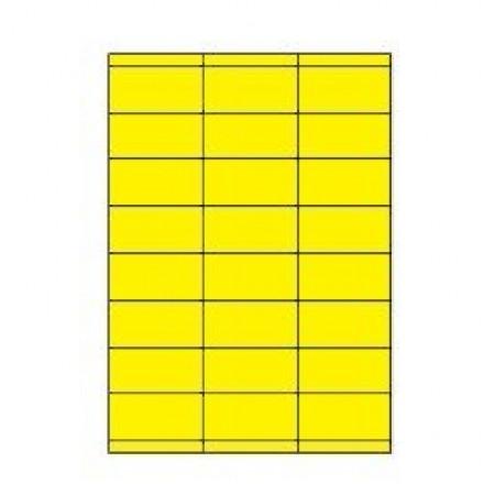 Etiketten Eticopy 24 etik/bl 70x35mm geel (200)