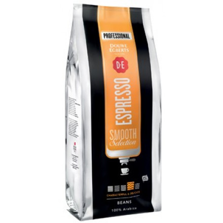 Koffiebonen Douwe Egberts Espresso Smooth Selection voor automaten 1kg