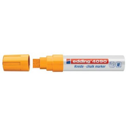 Krijtmarker Edding 4090 beitelpunt 4-15mm fluo oranje