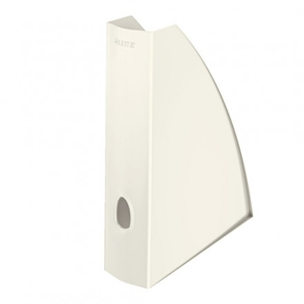 Tijdschriftencassette Leitz WOW PS A4 wit metallic (5277101)