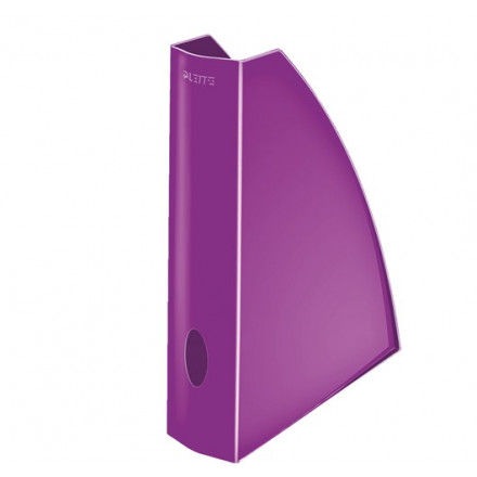 Tijdschriftencassette Leitz WOW PS A4 paars metallic (5277162)