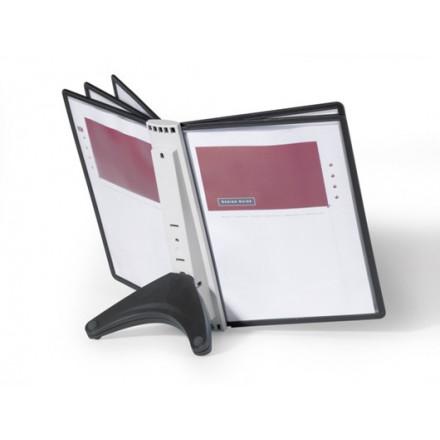 Zichtpanelensysteem Durable Sherpa Soho 5 tafelmodel inclusief 5 zichtpanelen zwart