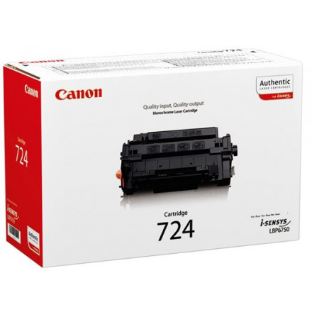 Toner Canon Mono Laser 724 i-SENSYS LBP6750dn 6.000 pag. BK