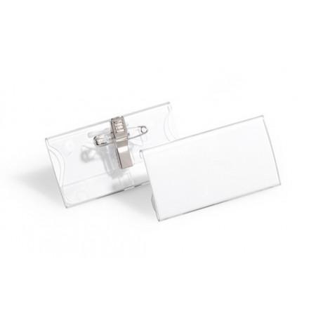 Badge Durable 40x75mm met combiklem (25)(D812119)