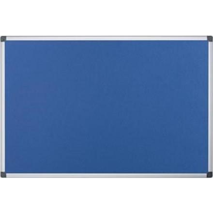 Textielbord Pergamy 60x90cm met aluminium frame blauw