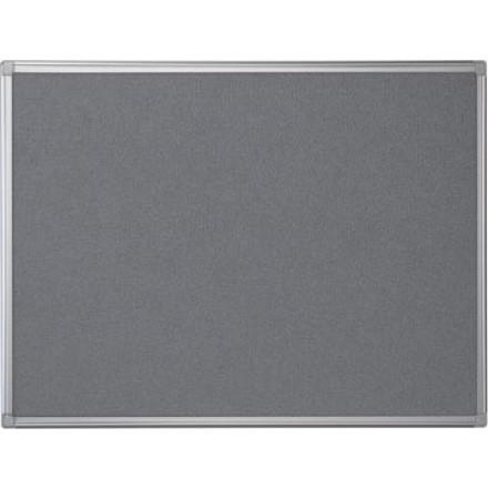 Textielbord Pergamy 60x90cm met aluminium frame grijs