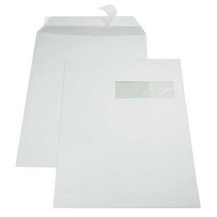 Zakomslag met balg 229X324X30 wit M/V rechts + strip (250)