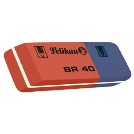 Gom Pelikan Duo rood/blauw