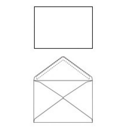 Omslag 114X162 wit gegomd Z/V (500)