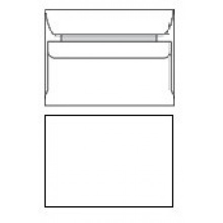 Omslag 114X162 wit zelfklevend Z/V (500)