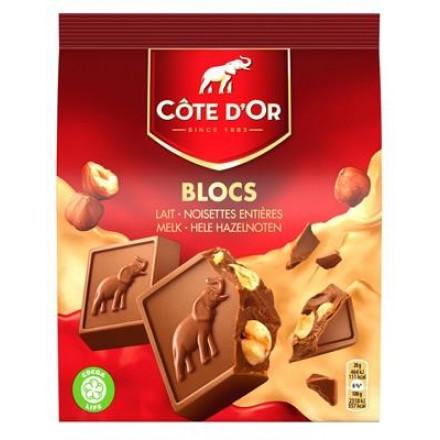 Côte d'or mini carré melk hele noten 200gr (12 pakjes)