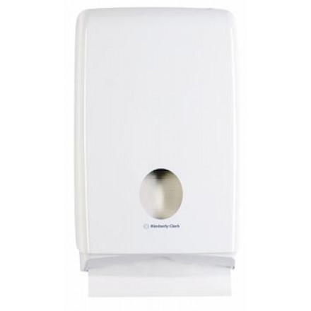 Handdoekdispenser Kimberly Clark Aquarius Slimfold wit