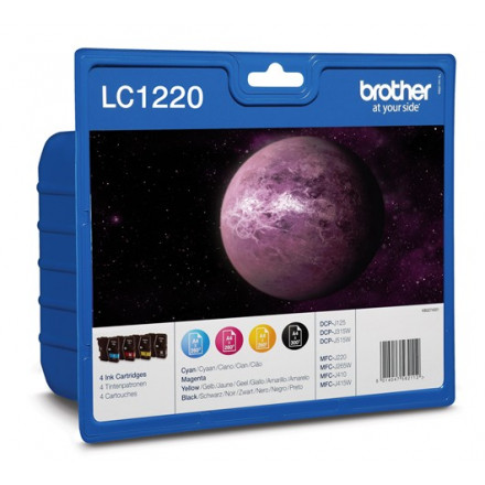 Cartridge Brother Inkjet LC1220 DCP-J525W 300 pag. VALUE PACK BK/C/M/Y