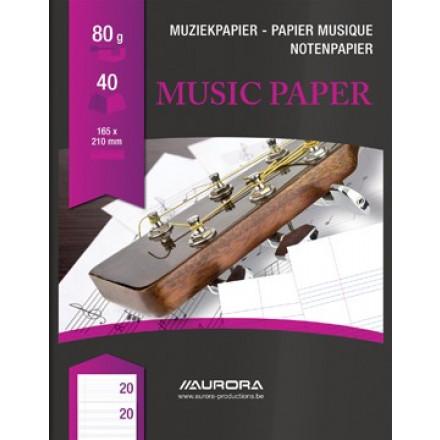 Muziekschrift Bur-O-Class 16,5x21cm 40blz 80gr