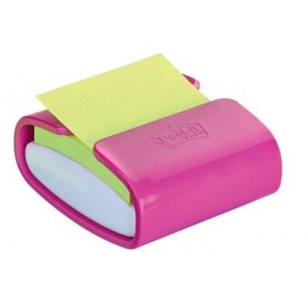 Z-Notes Post-it 76x76mm groen met dispenser Pro Color roze