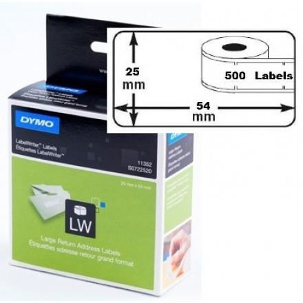 Dymo etiket groot wit 25x54mm (500) (11352)