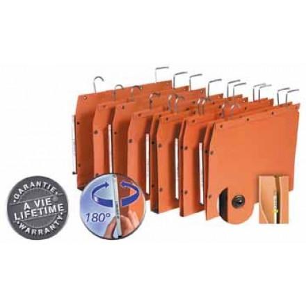 Hangmap Elba Tub Metalen Haken Kast 330mm V Bodem Oranje Kantoor