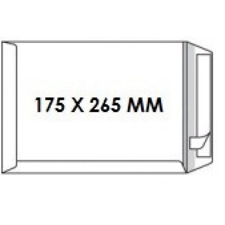 Zakomslag 175X265 wit + strip Z/V (250)
