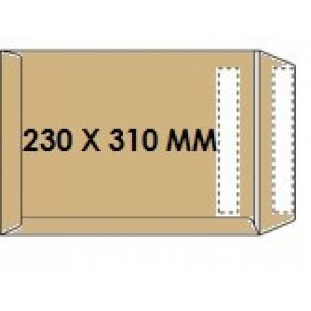 Zakomslag 230X310 bruin zelfklevend Z/V (250)