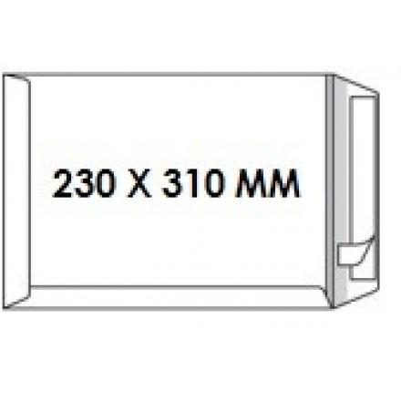 Zakomslag 230X310 wit + strip Z/V (250)
