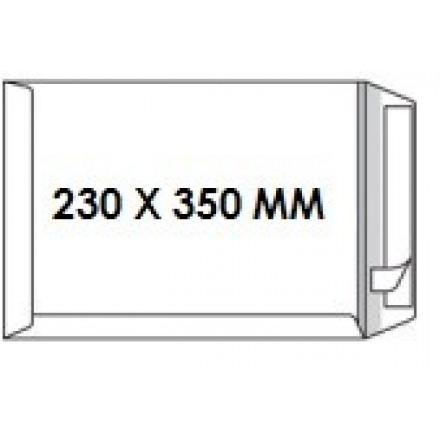 Zakomslag 230X350 wit + strip Z/V (250)