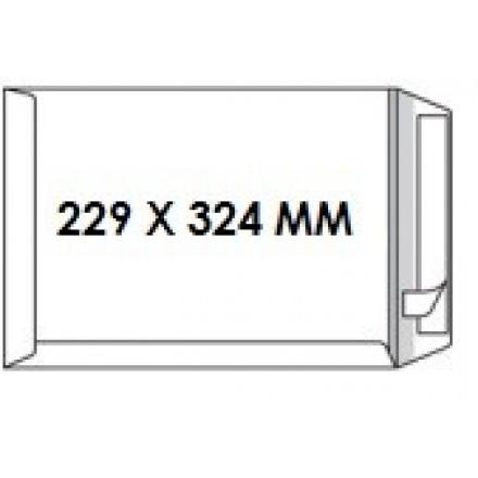 Zakomslag 229X324 wit + strip Z/V (250)