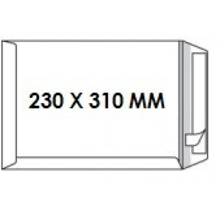 Zakomslag 230X310 wit + strip Z/V (25)