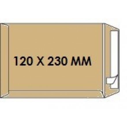 Zakomslag 120X230 bruin + strip Z/V (500)