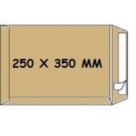 Zakomslag 250x350 bruin + strip Z/V (250)